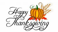 We want to wish you & your family a very safe and restful Thanksgiving Holiday.  See you back at school on Tuesday, October 13th!